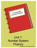 6th Grade Math Interactive Notebook: Unit 1 Number System Fluency