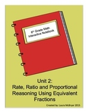 6th Grade Math Interactive Notebook: Unit 2 Ratios, Rates, and Proportions