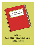 6th Grade Math Interactive Notebook: Unit 4 Equations and