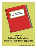 6th Grade Math Interactive Notebook: Unit 7 Rational Numbers