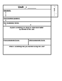 Interactive Notebook Unit Divider Page