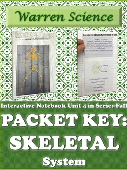 Interactive Notebook Unit Packet KEY:Skeletal System-Unit 4 in Series (Fall)