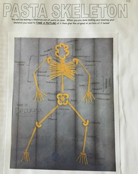 Interactive Notebook Unit Packet: Skeletal System-Unit 4 in Series (Fall)