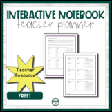 Interactive Notebook Unit Planner