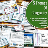 Interactive Notebook Unit with Flippables: Five Themes of Geography