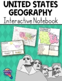 United States Geography & Its Regions Interactive Notebook & Test    US