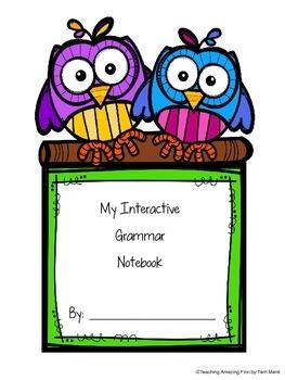 Interactive Notebook VERBS, NOUNS, ADJECTIVES