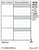 Interactive Notebook VOCABULARY Blank