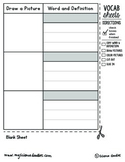 Interactive Notebook VOCABULARY Blank - FREEBIE!