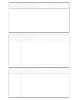 Interactive Notebook Verb Foldables