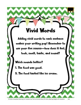 Vivid Words Lesson Grades 2-5