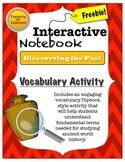 Interactive Notebook Vocabulary-Discovering the Past FREEBIE