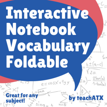 Interactive Notebook- Vocabulary Foldable
