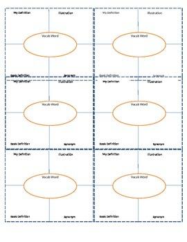 Interactive Notebook Vocabulary Sheet