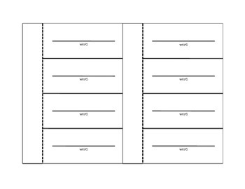 Interactive Notebook Vocabulary Template