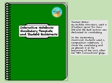 Interactive Notebook Vocabulary Template & Book Mark