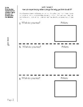WONDERS McGraw Hill UNIT 1 WEEK 3 Interactive Notebook