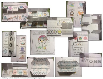 Interactive Notebook: Winter!  K-1 CC Aligned Activities For ELA, Math & More!