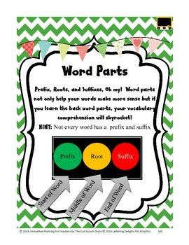 Word Parts - Affixes Lesson Grades 2-5