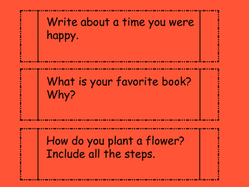 Interactive Notebook- Writing Prompts