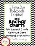 Interactive Notebook and Anchor Charts for Second Grade Language Common Core
