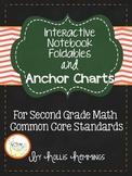 Interactive Notebook and Anchor Charts for Second Grade Math Common Core