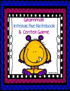Interactive Notebook and Center Game for Grammar-Color Version