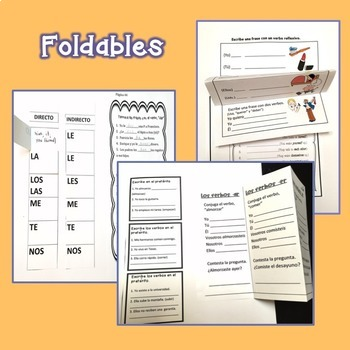 Interactive Notebook and Google Drive Activities for Spanish One, Two, and Three