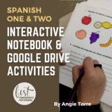 Interactive Notebook and Google Drive Activities for Spanish One and Two Bundle