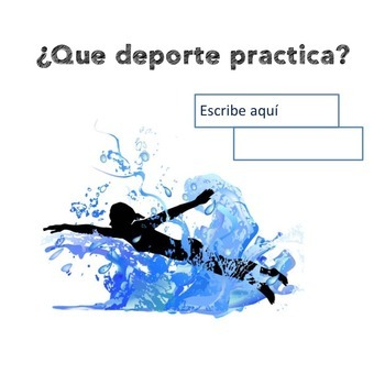 Spanish Sports Vocabulary Interactive Notebook and Google Drive Activities