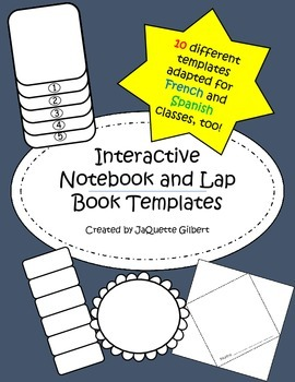 Interactive Notebook and Lap Book Foldable Templates