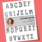 Interactive Notebook and Lapbook for Letters CONSONANTS ONLY