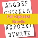 Interactive Notebook and Lapbook for Letters Full Alphabet Bundle