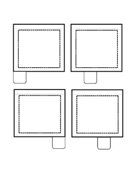 Interactive Notebook flip book with 4 tabs