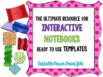 Interactive Notebook - foldable-flip flap templates {editable} COMMERCIAL USE
