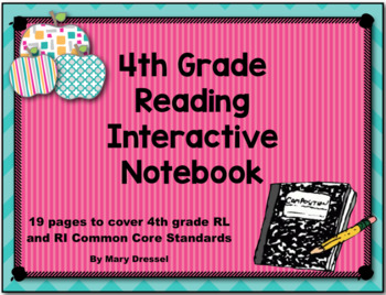 Interactive Notebook for 4th Grade RI and RL standards