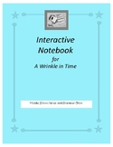 Interactive Notebook for A Wrinkle in Time