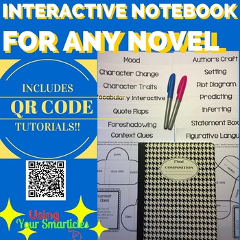 An Interactive Notebook for ANY Novel with QR Code Tutorials