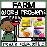 Interactive Notebook for Addition Word Problems to 10 RESU