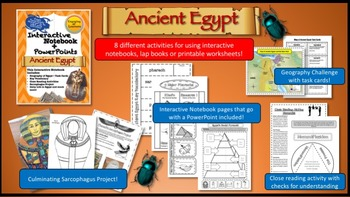 Interactive Notebook for Ancient Egypt+PowerPoint