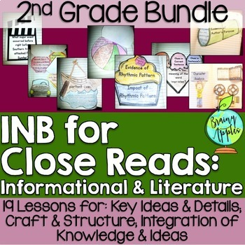 Close Reading Bundle Interactive Notebook 2nd Grade Literature Informational