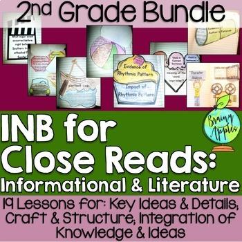 Close Reading Bundle Interactive Notebook 2nd Grade Literature Informational