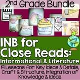 Close Reading Bundle Interactive Notebook 2nd Grade Litera