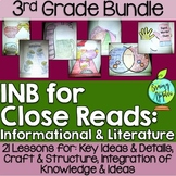 Close Reading Bundle Interactive Notebook 3rd Grade Literature Informational