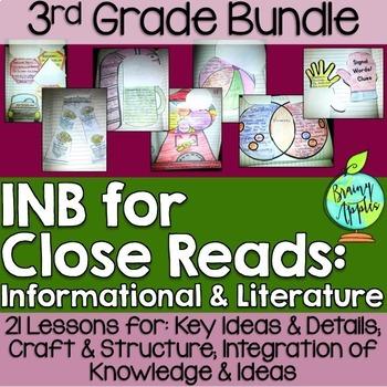 Close Reading Bundle Interactive Notebook 3rd Grade Litera