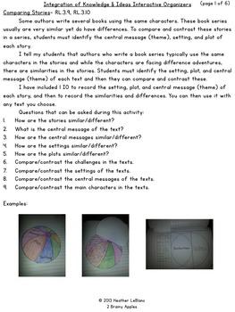 Close Reading Bundle Interactive Notebook 3rd Grade Free Sample