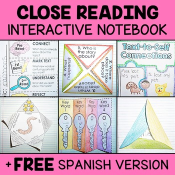 Close Reading Interactive Notebook - Activity Templates