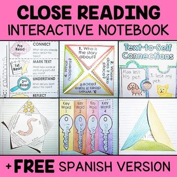 Close Reading Interactive Notebook - Activity Templates