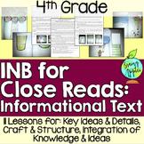 Informational Text Interactive Notebook: 4th Grade
