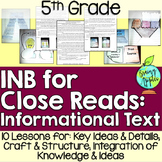 Close Reading Informational Text Interactive Notebook 5th Grade